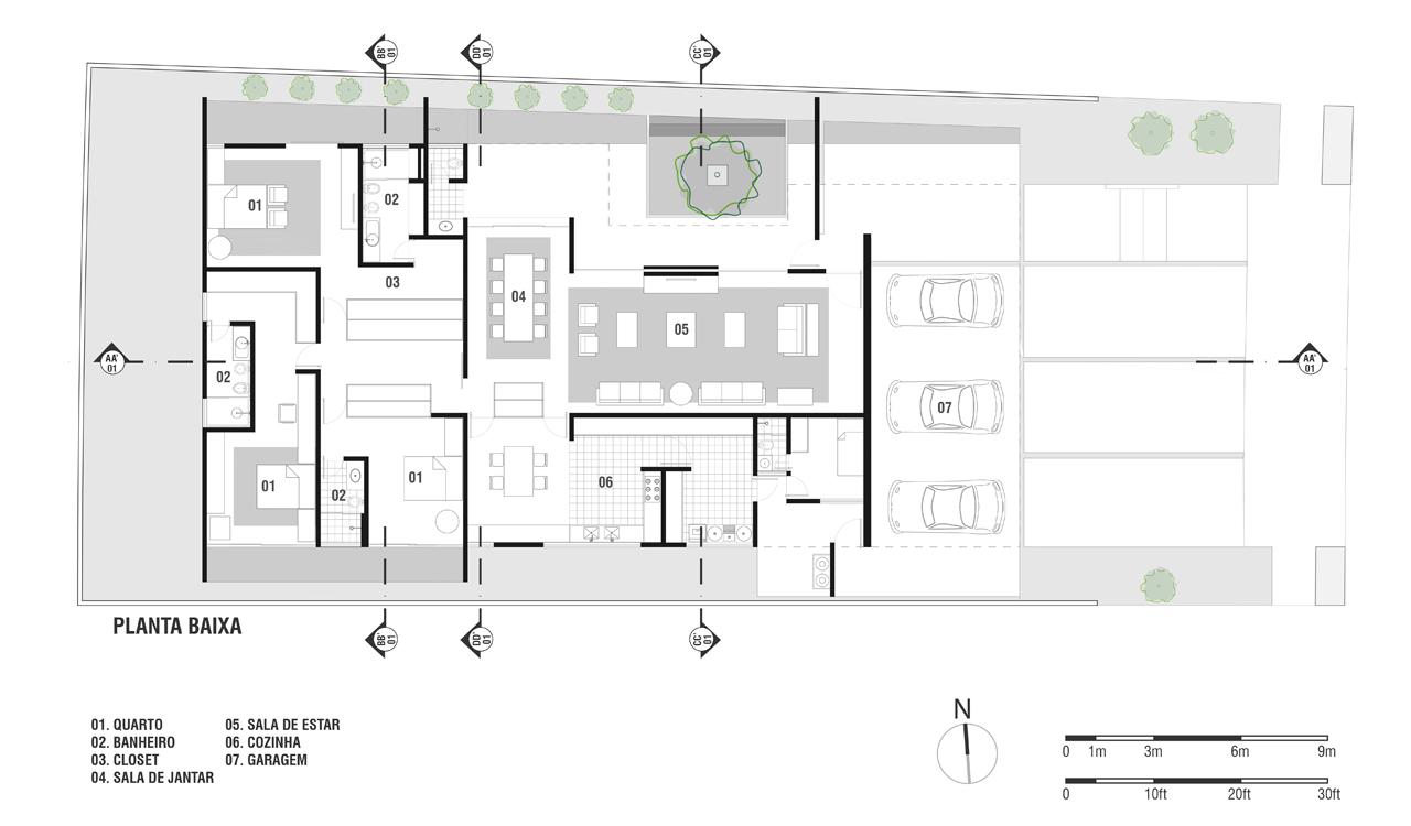 Galeria de casa gedda mustaf bucar arquitetura 15 for Casa minimalista dwg