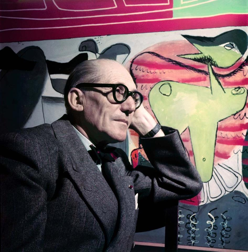 Le Corbusier em cores, Le Corbusier. Imagens via Le Journal de la Photographie. © Willy Rizzo.