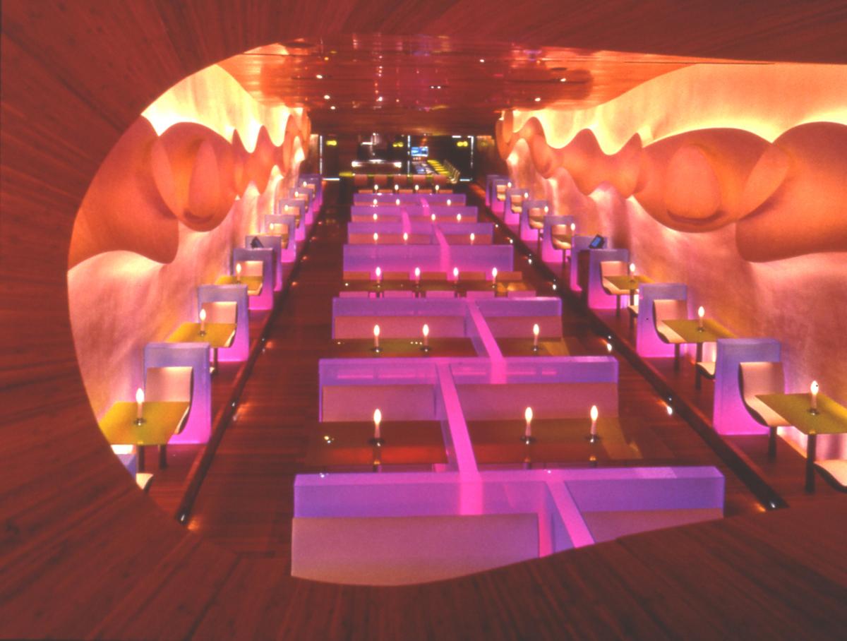 Projeto de Iluminação: Restaurante Morimoto / Focus Lighting, ©David Joseph