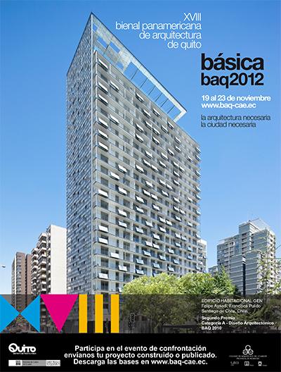 """XVII Bienal Panamericana de Quito – """"A Arquitetura Necessária, a Cidade Necessária"""", Cartaz"""