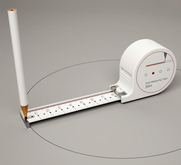 """Uma interessante ferramenta para arquitetos: """"Any Kinda Tape measure"""" por Sunghoon Jung, Imagem via www.yankodesign.com"""