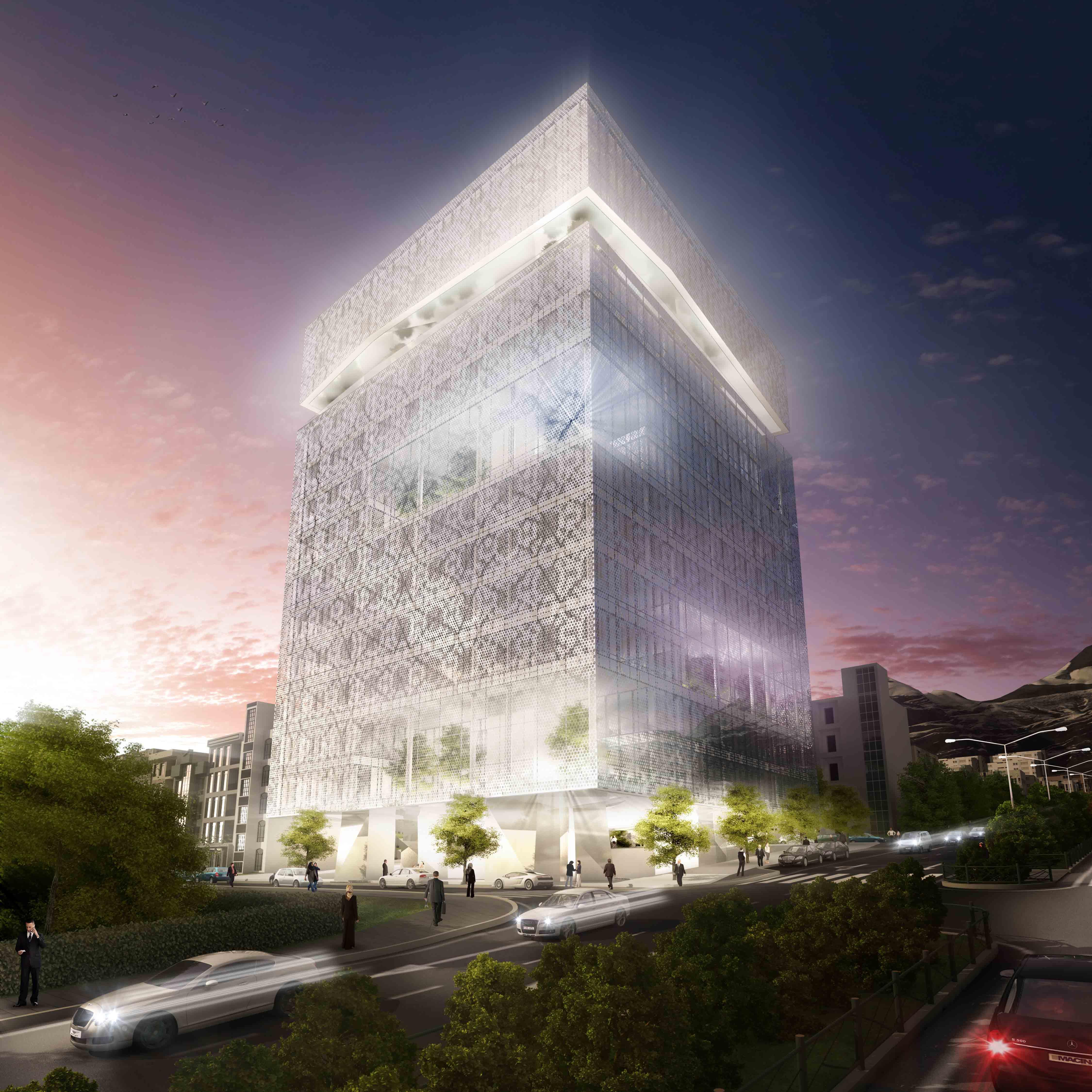 2°Lugar: Concurso Bolsa de Valores de Teerã : Hadi Teherani Office + Design Core [4S] , Cortesia de Hadi Teherani Office + Design Core [4S]
