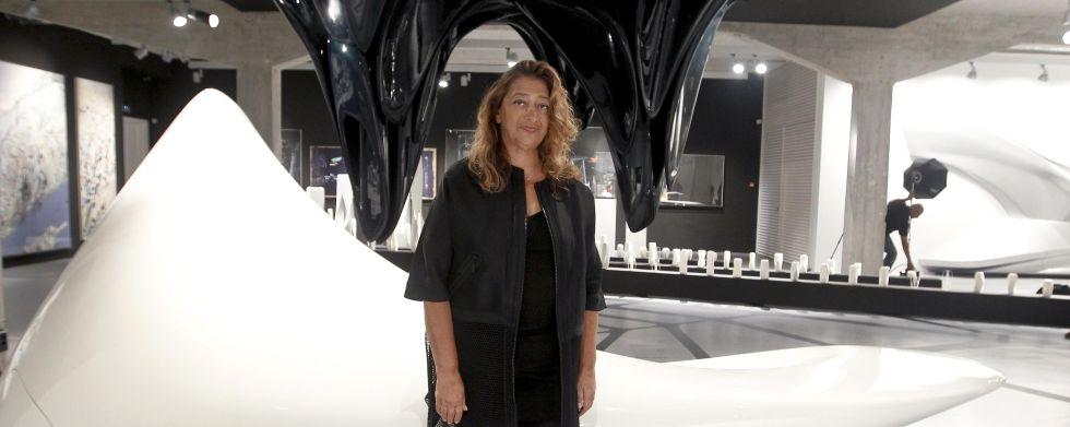 Exposição de pinturas, esculturas e desenhos de Zaha Hadid em Madrid, © Antonio Sanz, via El País