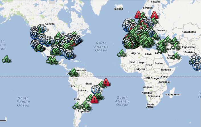 Mapa mundial de bicicletas públicas, Via Plataforma Urbana