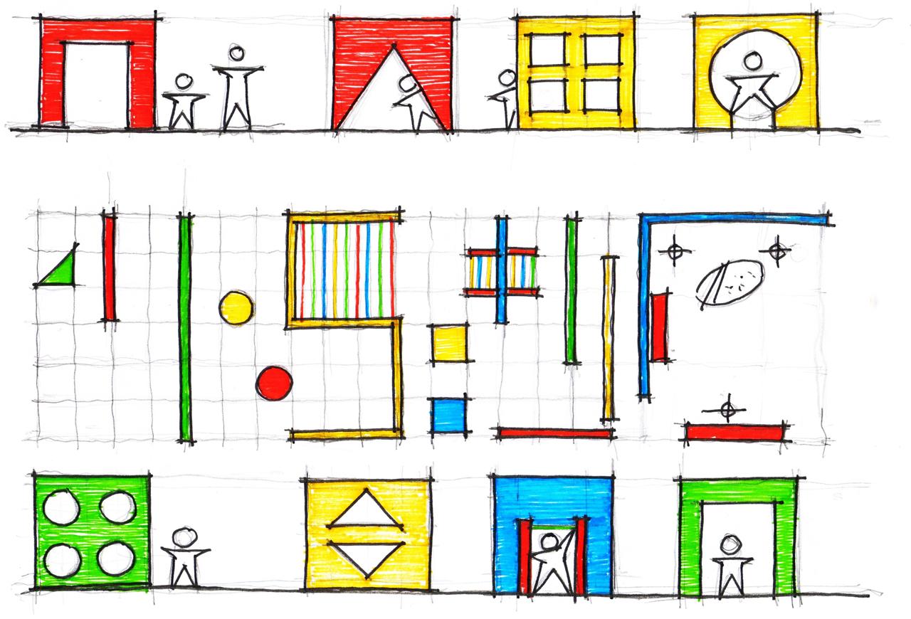 Arte e Arquitetura: Espaço Lúdico - Escola Classe 304 / MGS , © Fabiano Sobreira