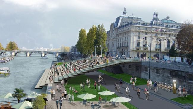 Paris devolverá a orla do Sena aos pedestres, Via Plataforma Urbana