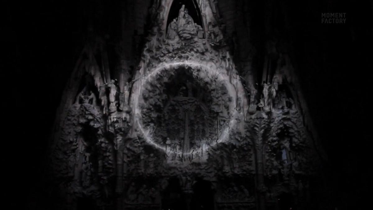 Vídeo: Sagrada Família / Moment Factory, Imagem capturada do vídeo