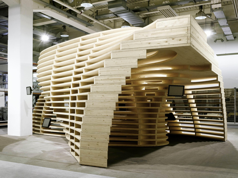 Pavilhão Lignum / Frei + Saarinen Architekten, © Hannes Henz