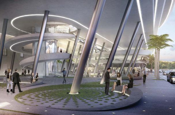 Zaha Hadid revela seus planos para o edifício de estacionamentos de Miami, Collins Park Garage via BD Online