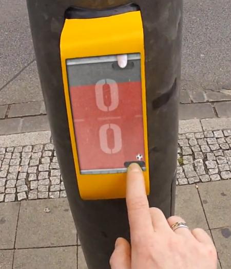 Vídeo: STREETPONG, Imagem capturada do vídeo