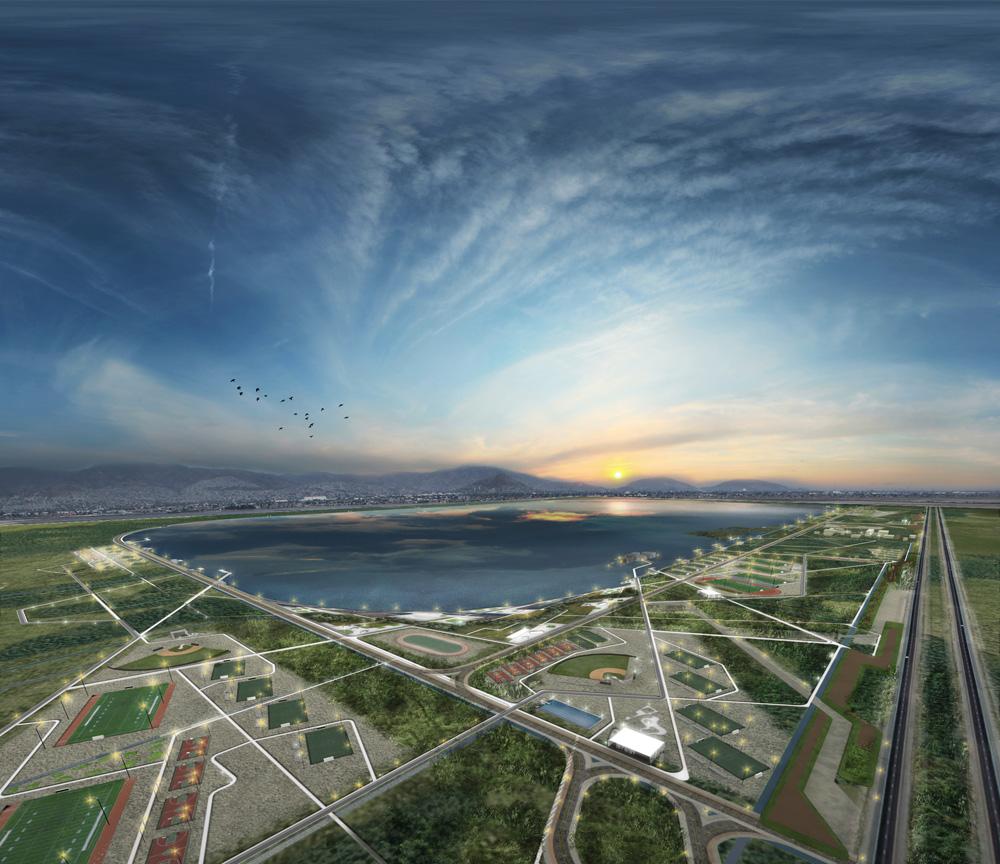 O maior parque urbano estará no México, Render - Cortesia de Iñaki Echeverria