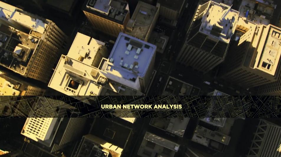 Vídeo: Análises de Redes Urbanas, Imagem capturada do vídeo