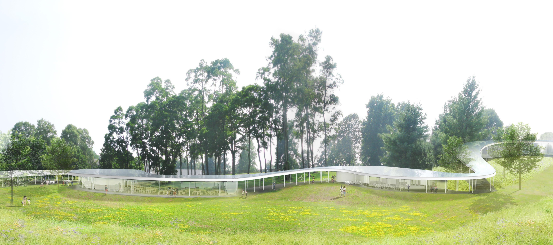 Grace Farms revela o projeto de SANAA para a construção 'Rio', © SANAA