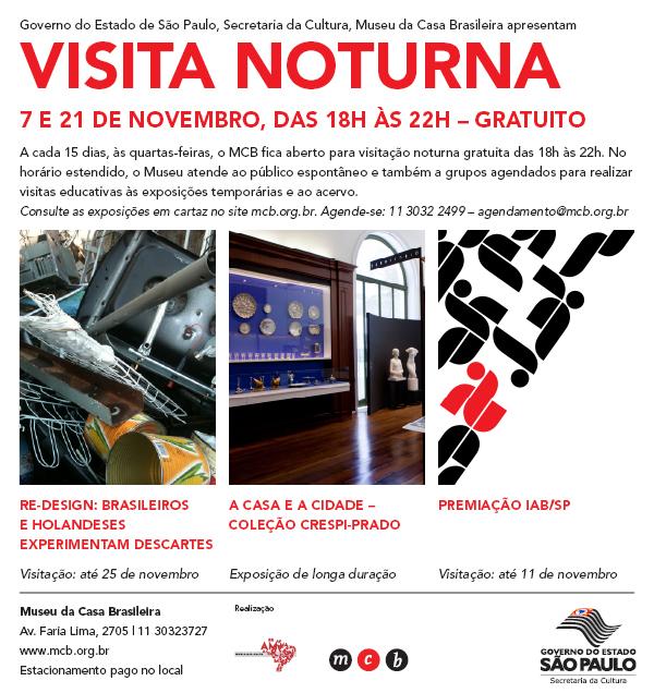 Visitas noturnas gratuitas no Museu da Casa Brasileira, Cortesia de Museu da Casa Brasileira