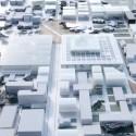 Visão geral do ECP integrado no plano urbano - Imagem cortesia da OMA