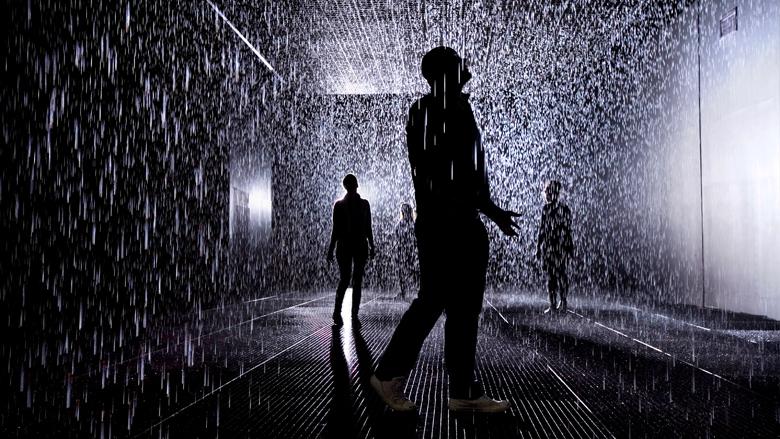 Vídeo: Rain Room, chuva que não molha, © rAndom international