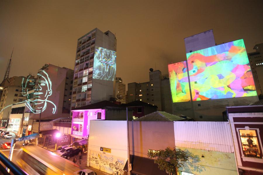 Fachadas da rua Augusta serão tomadas por projeções de vídeos, Via Catraca Livre © Felipe Blumen