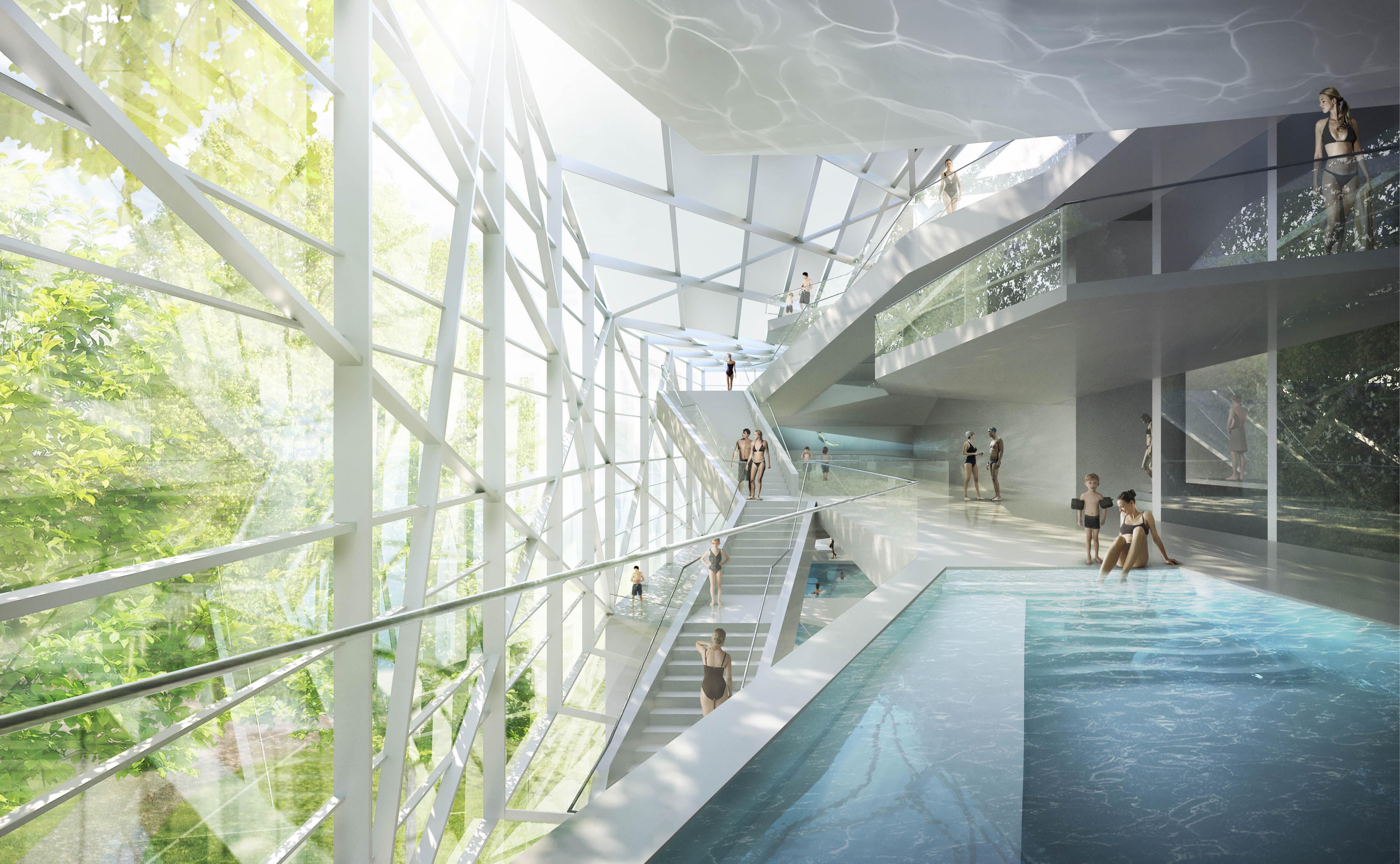 Proposta Vencedora para o Novo Paracelsus Spa e Piscinas em Salzburg / HMGB Architects, ©  bloomimages / HMGB Architects