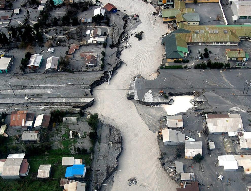 Quão naturais são os desastres?, Chaitén após a erupção do vulcão - Via Plataforma Urbana