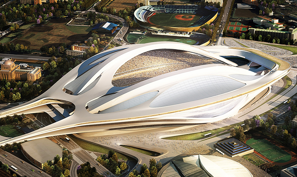 Zaha Hadid vence o concurso para o Estádio Nacional do Japão, Zaha Hadid Architects Entry No.17 – Cortesia de Japan Sport Council
