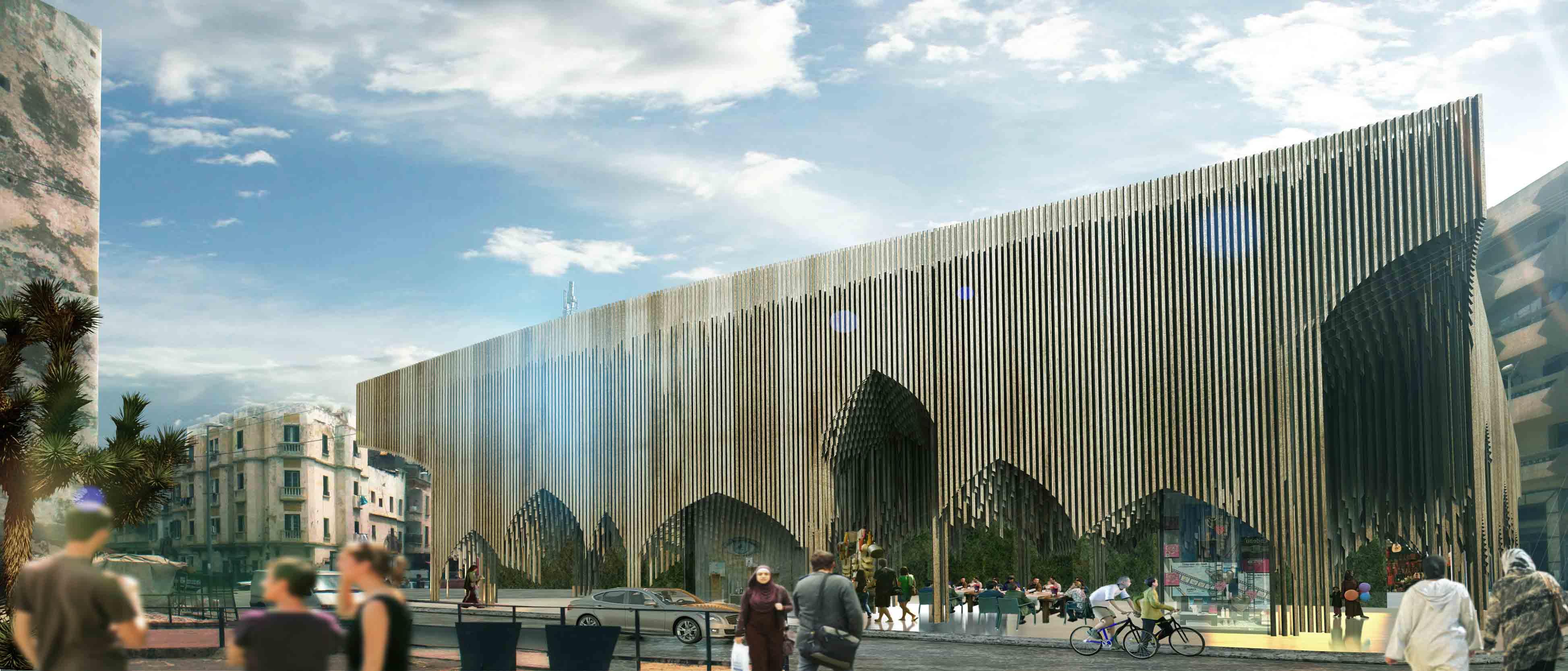 2º Lugar: Praça do Mercado Sustentável / PMG Architects, © Cortesia de PMG Architects