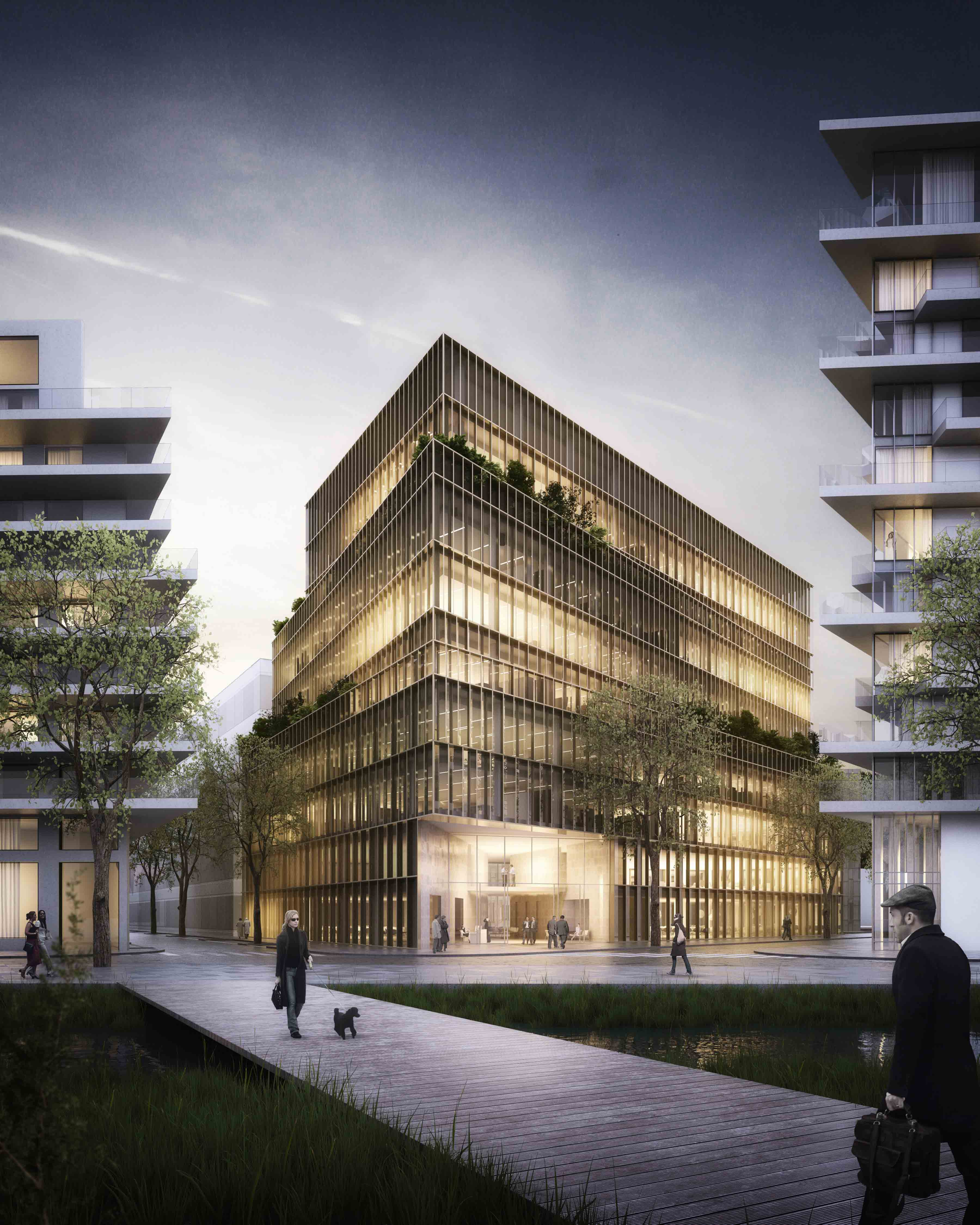 Proposta Vencedora para Edifício de Escritórios Kaufman & Broad / Studioninedots, © A2STUDIO