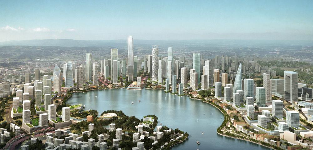 KPF libera masterplan para cidade chinesa construída do zero  , © Cortesia de Kohn Pedersen Fox Associates (KPF)