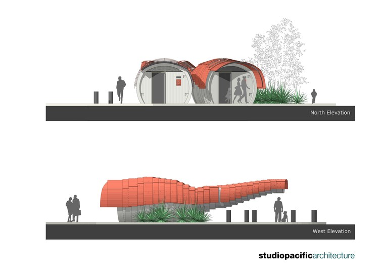 public toilet design architecture. Elevation Kumutoto Toilets  ArchDaily