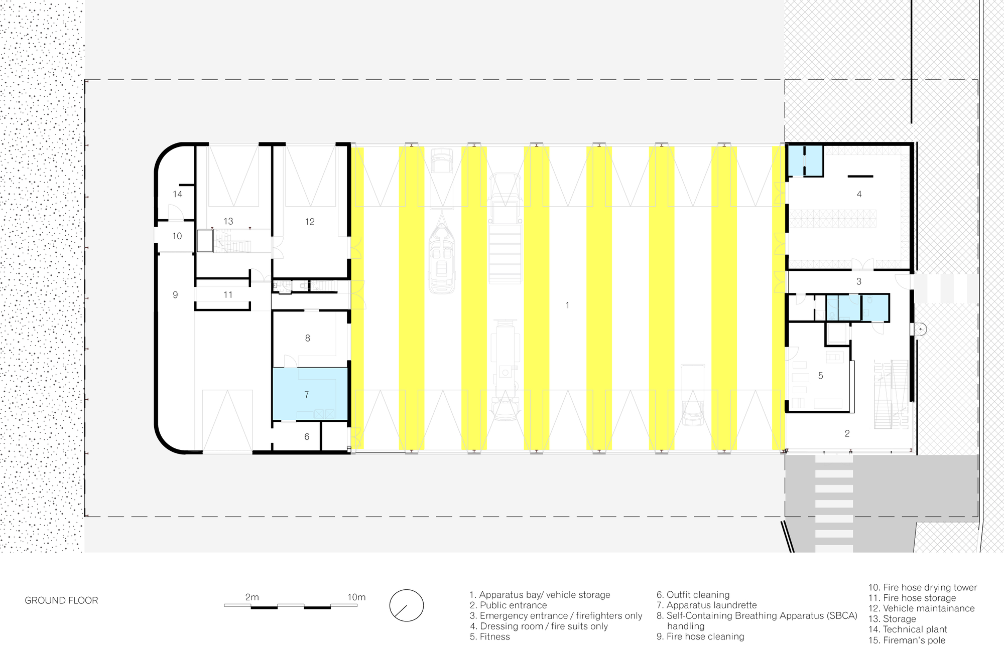 Plan Dressing En U gallery of firestation for the city of puurs / compagnie o
