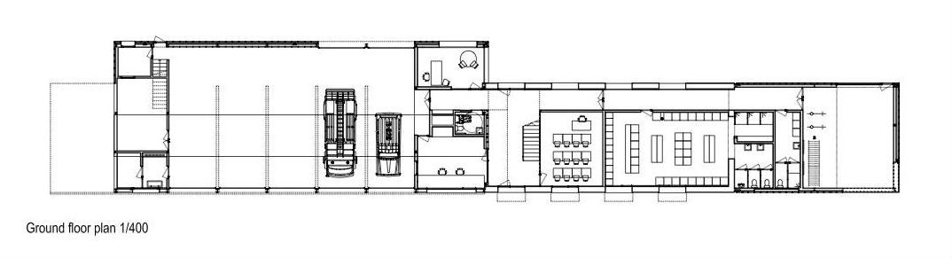 Gallery of fire station in girona mizien 15 for Fire station floor plans design