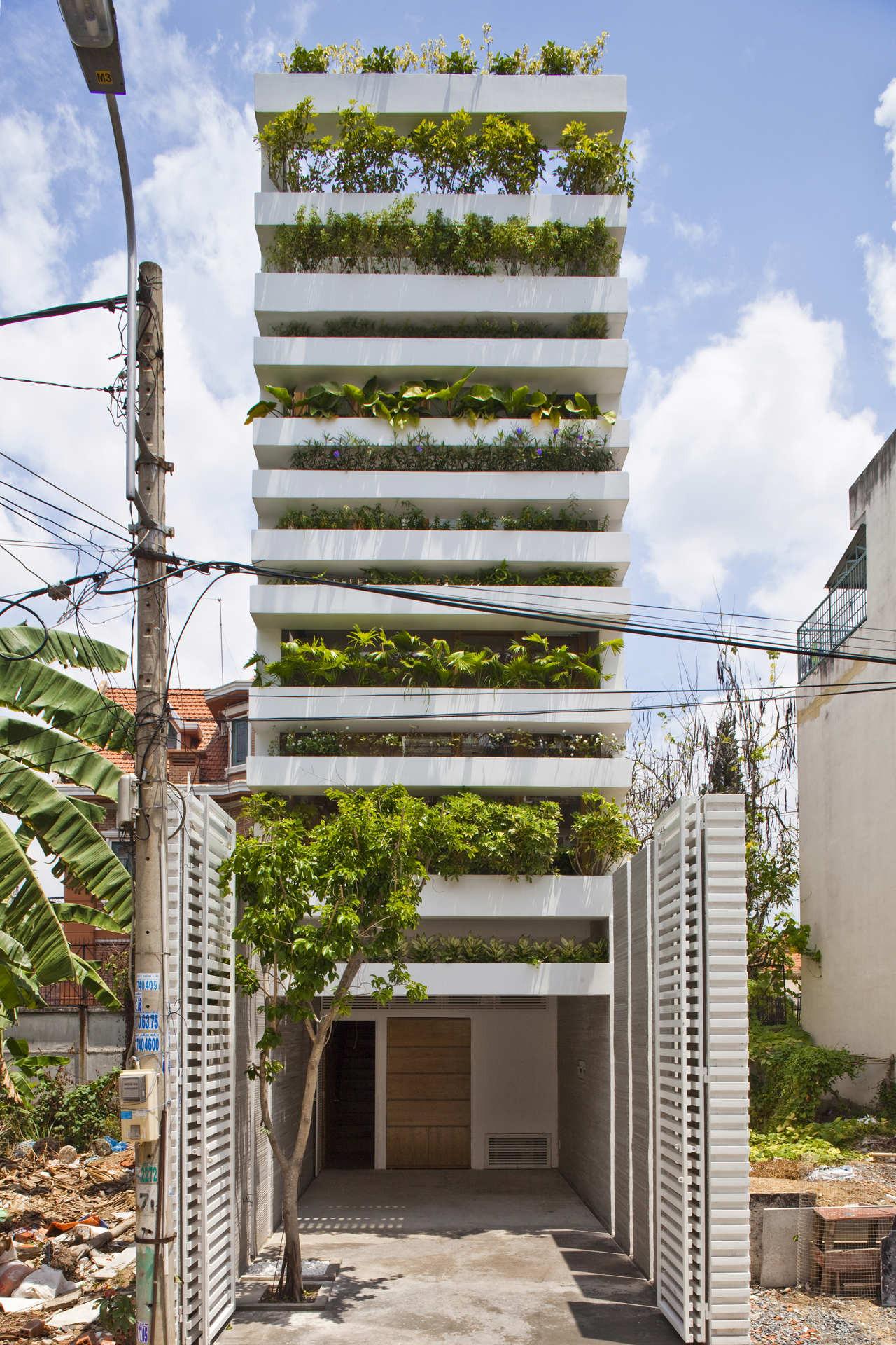 Stacking Green VTN Architects ArchDaily Unique Stacking Green Vo Trong Nghia Daisuke Sanuki Shunri Nishizawa