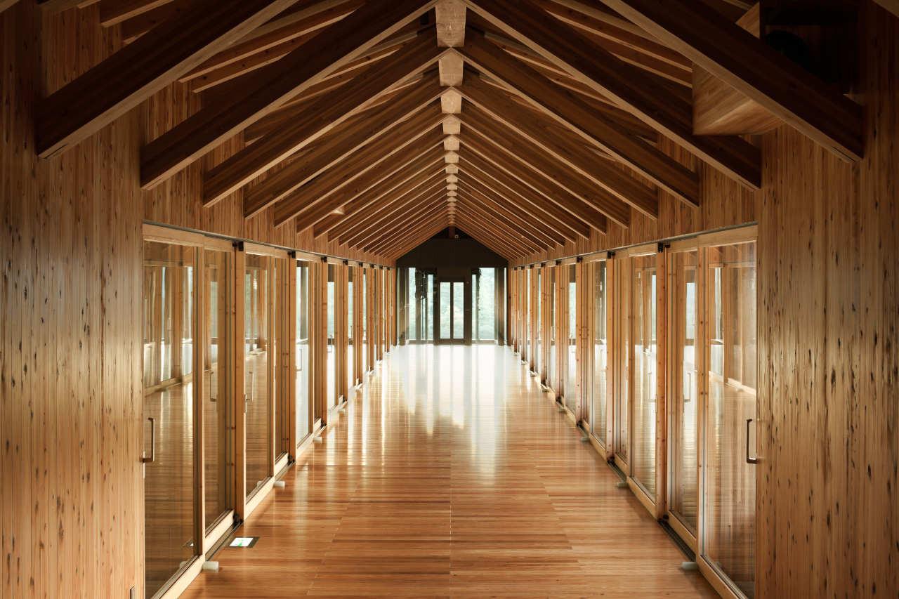 Gallery Of Yusuhara Wooden Bridge Museum Kengo Kuma