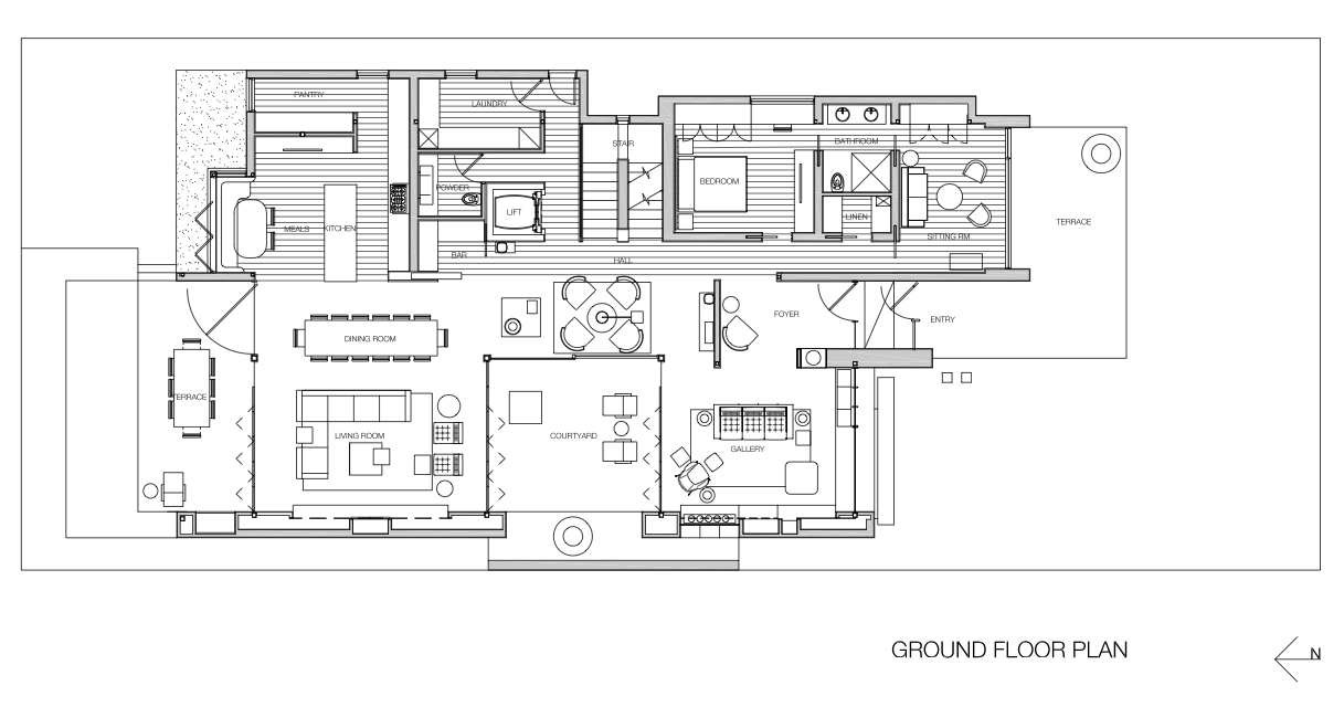 modern house floor plans gallery of house darren carnell architects 18 20721