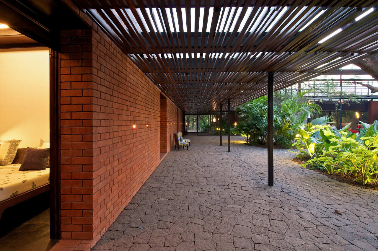 Gallery of the brick kiln house spasm design architects 15 for Terrace design india