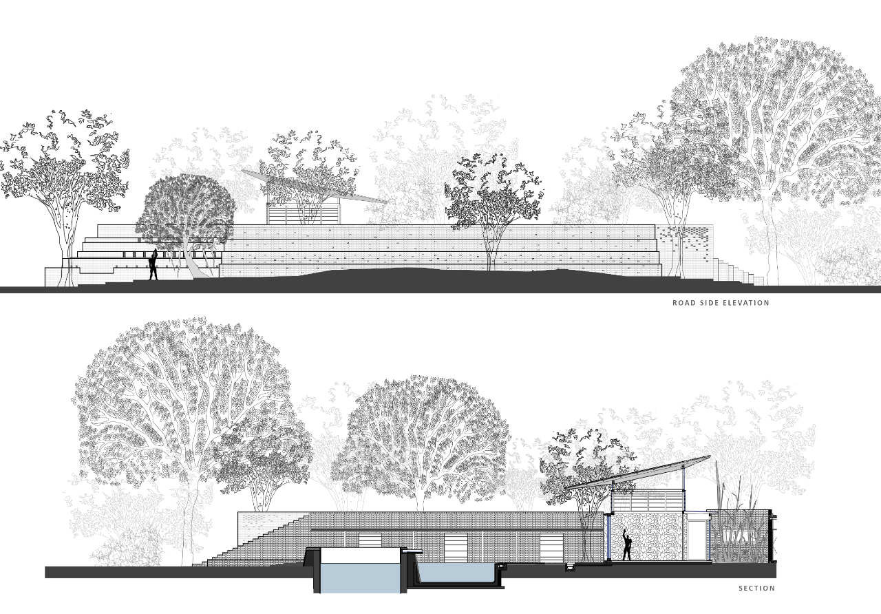 The Brick Kiln House,sections