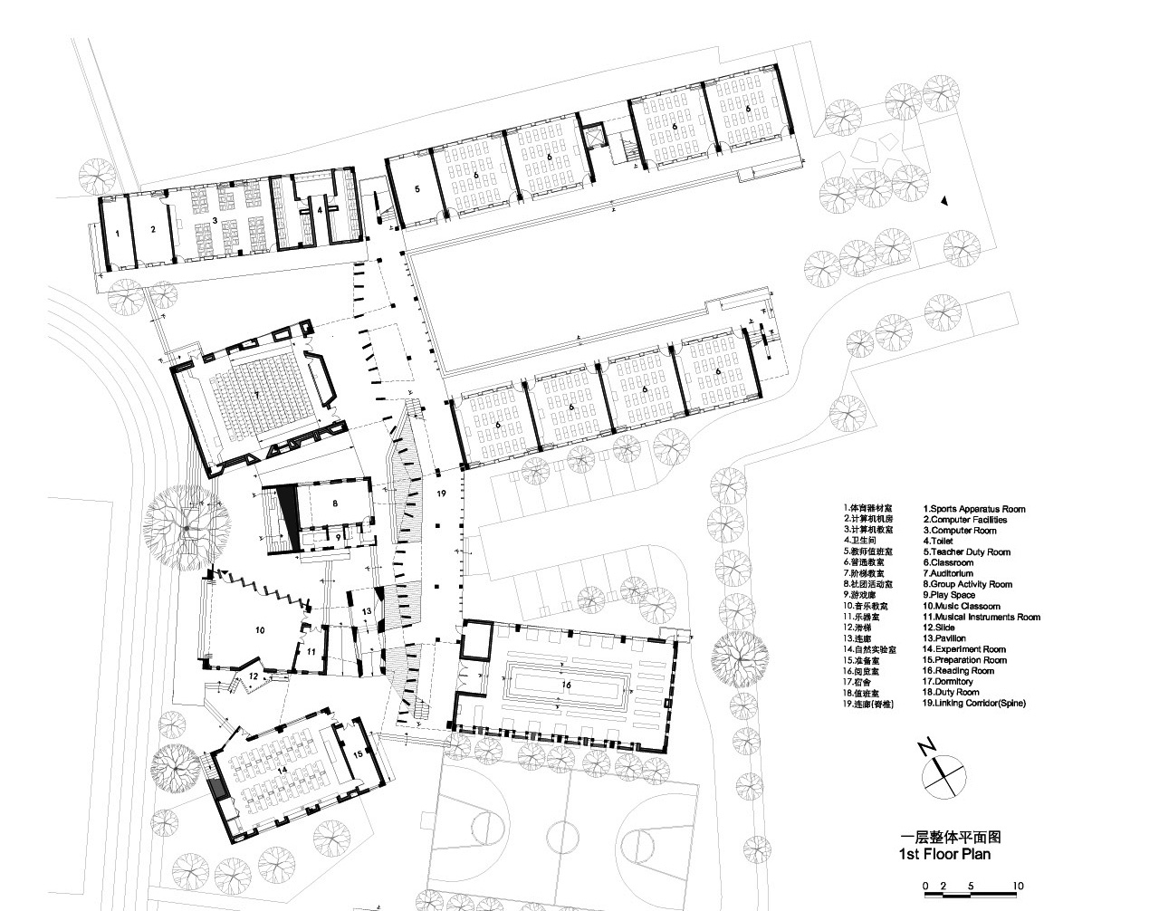 Line Drawing Architecture : Gallery of xiaoquan elementary school tao trace