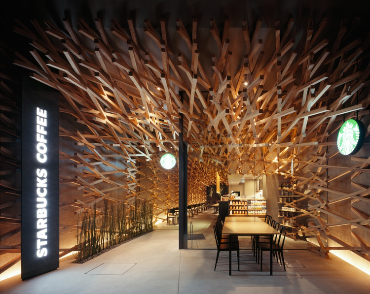 Starbucks Coffee / Kengo Kuma & Associates, © Masao Nishikawa