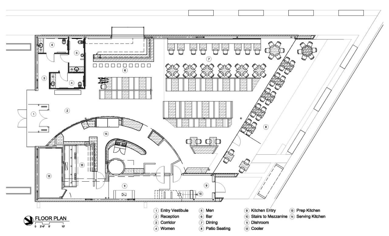 Gallery of cafe 501 elliott associates architects 20 for Coffee shop floor plan with dimensions