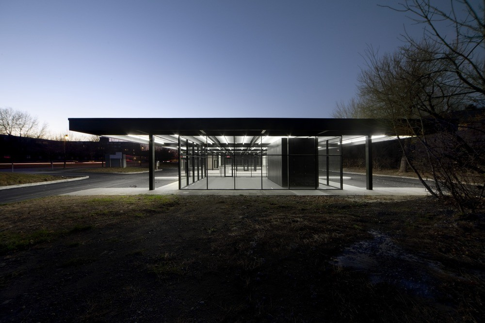conversion of mies van der rohe gas station fabg archdaily. Black Bedroom Furniture Sets. Home Design Ideas