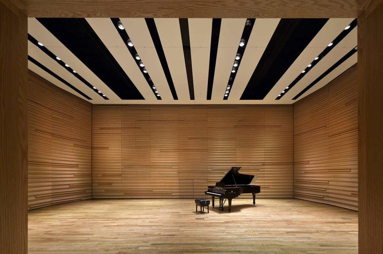 Gallery of orchestra of st lukes h3 hardy collaboration for Modern home hall design