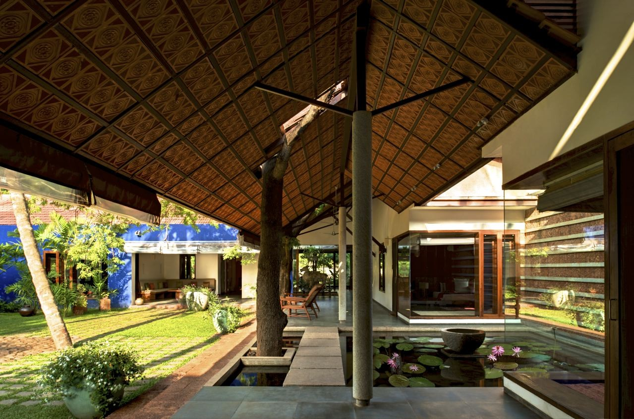 Gallery of bellad house khosla associates 5 for Indian traditional home designs