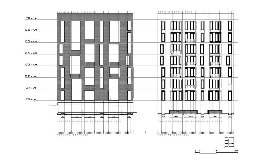 Apartment Building Elevation gallery of apartment building of 42 units / roldán + berengué - 15