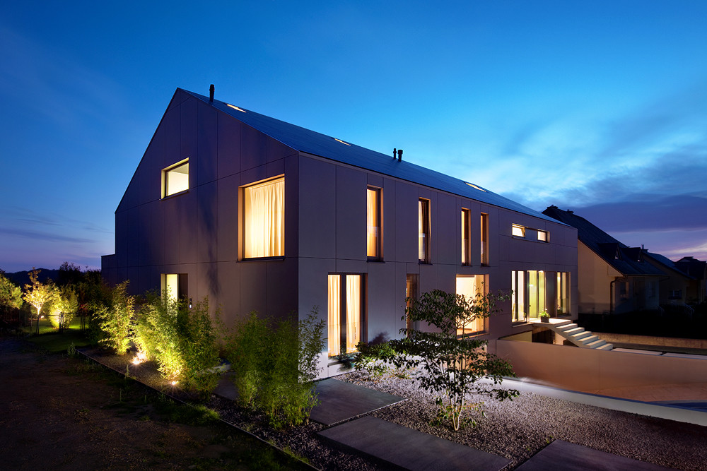 2 Row Houses In Goeblange Metaform Architects Archdaily