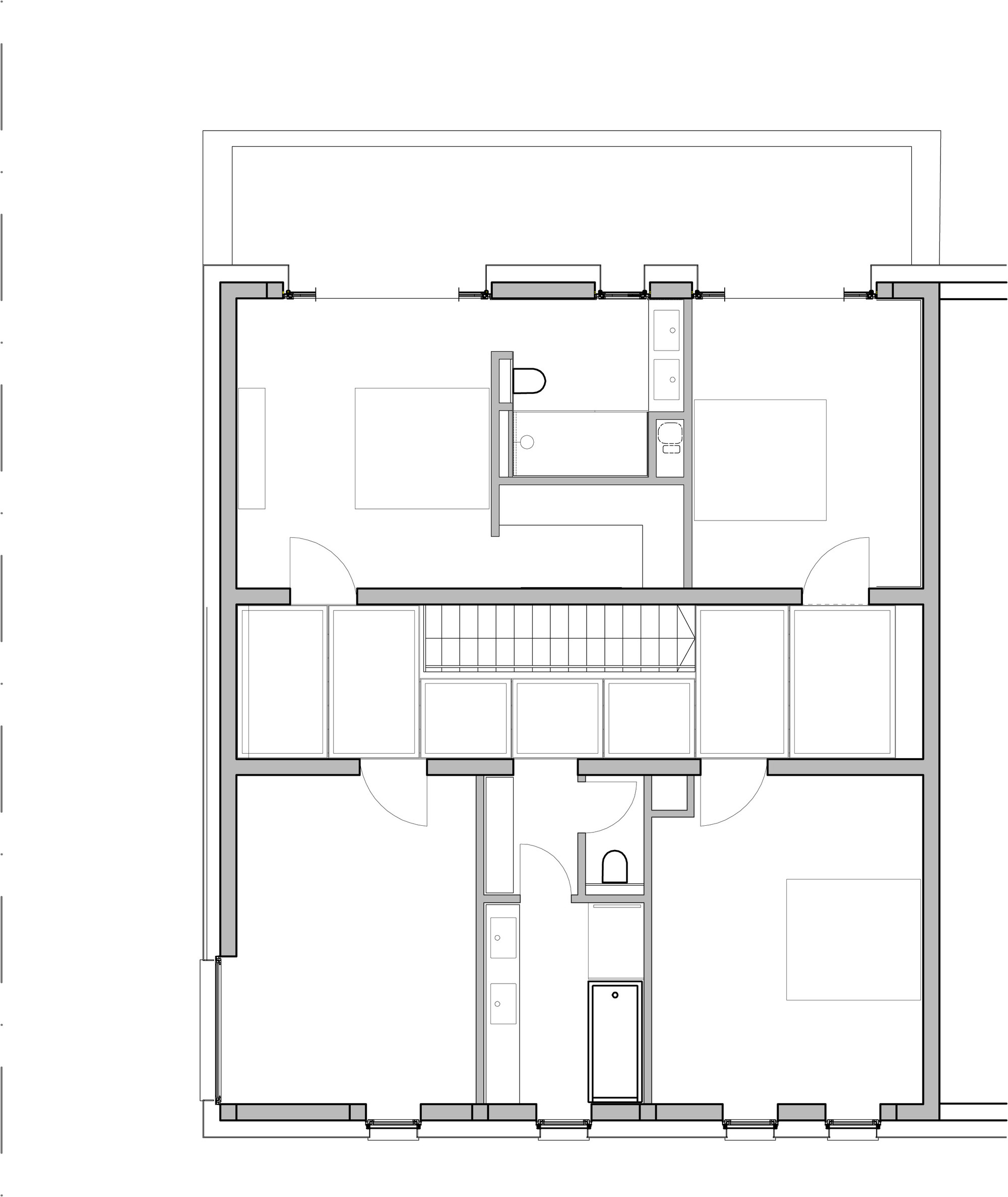 Gallery of 2 row houses in goeblange metaform architects 9 for Architecture house map design