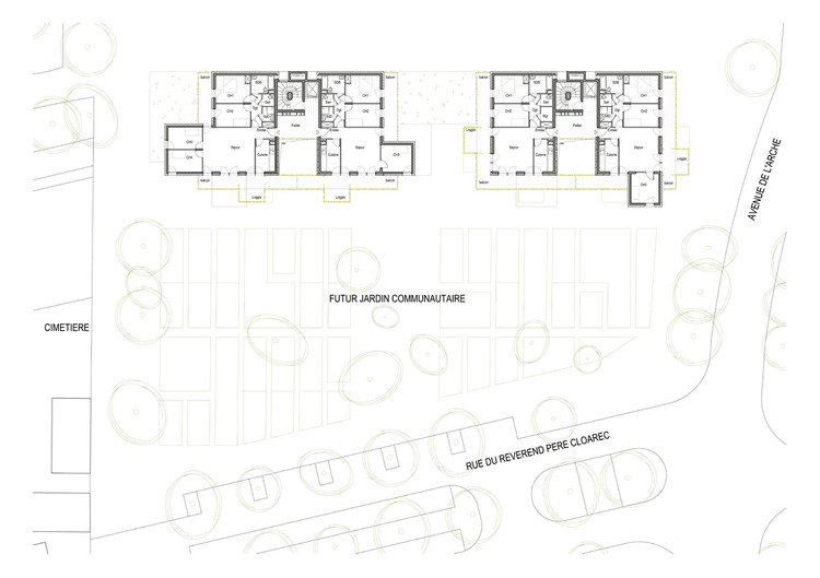 28 Social Housing In Paris / KOZ Architectes | ArchDaily on gintama house floor plan, spongebob house floor plan, japan house floor plan, iron man house floor plan, dog house floor plan, barbie house floor plan, south park house floor plan, batman house floor plan, vocaloid house floor plan, anime house floor plan, disney house floor plan,