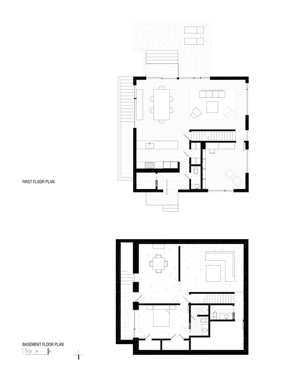 small cube house floor plan