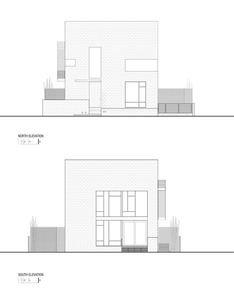 Plan Elevation Of A Cuboid : Gallery of hampden lane house robert gurney architect