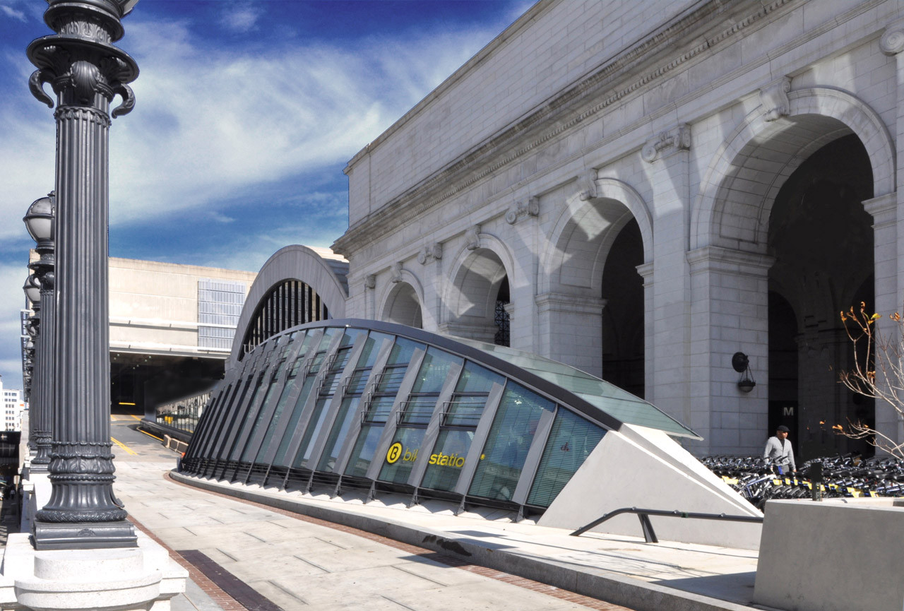 Union Station Bicycle Transit Center Kgp Design Archdaily