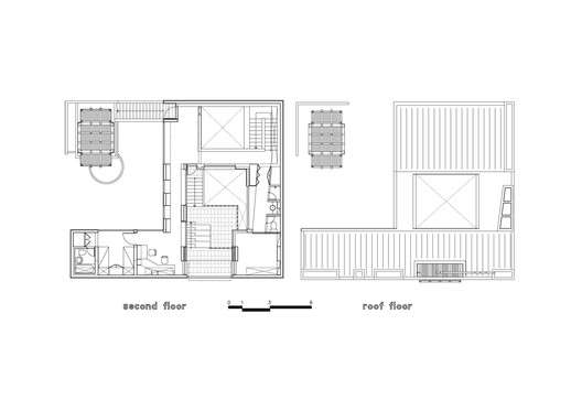 second floor & roof plan
