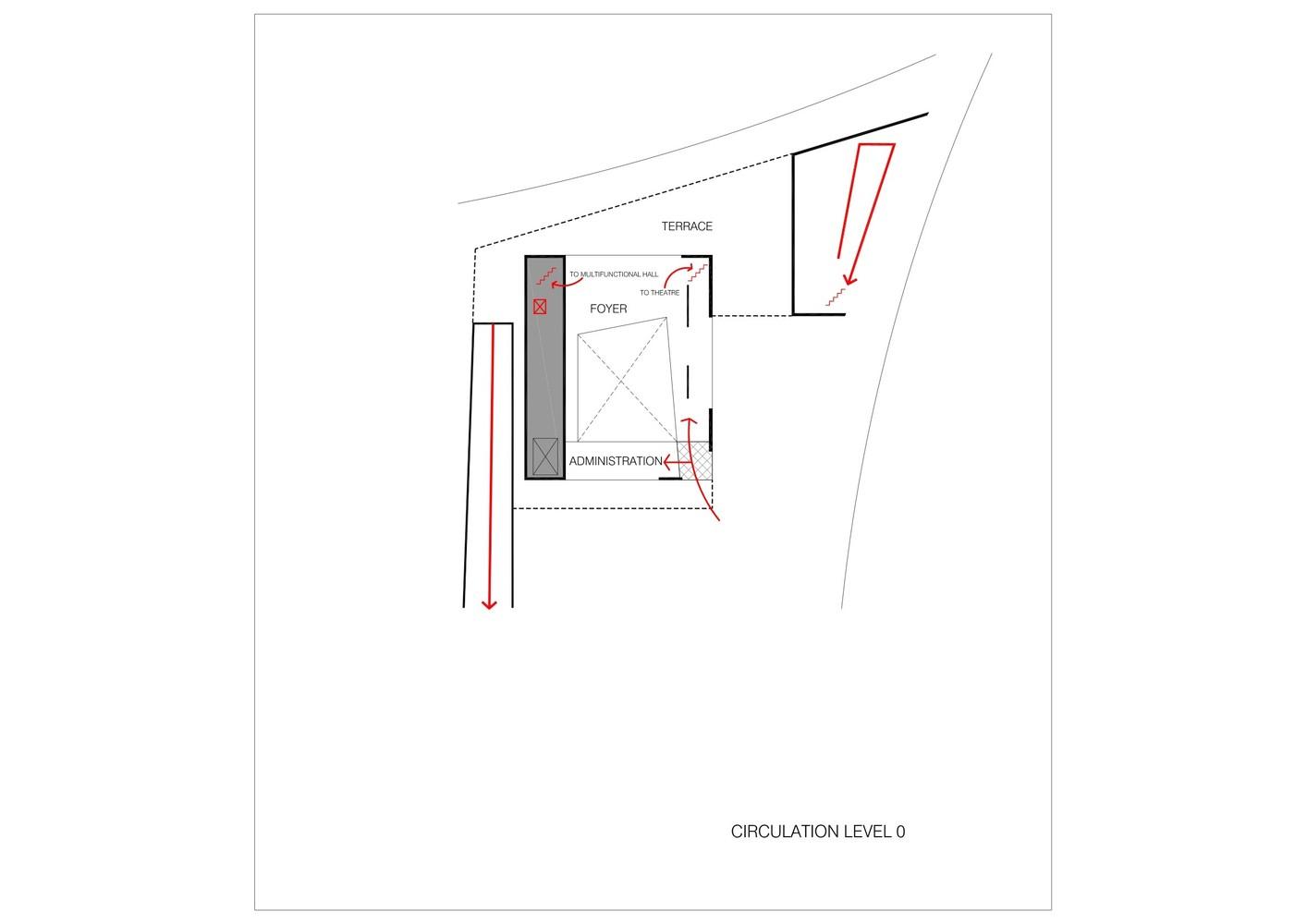 Gallery Of Avelgem Cultural Center Dierendonckblancke Architecten 42 Basketball Hoop Diagram Centerlevel 00 Circulation